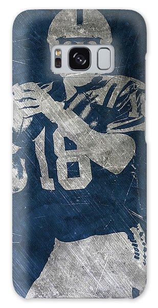 Peyton Manning Colts Galaxy Case by Joe Hamilton