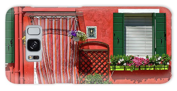 Picturesque House In Burano Galaxy Case
