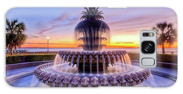 Beautiful Sunrise Galaxy Case - Pineapple Fountain Charleston Sc Sunrise by Dustin K Ryan