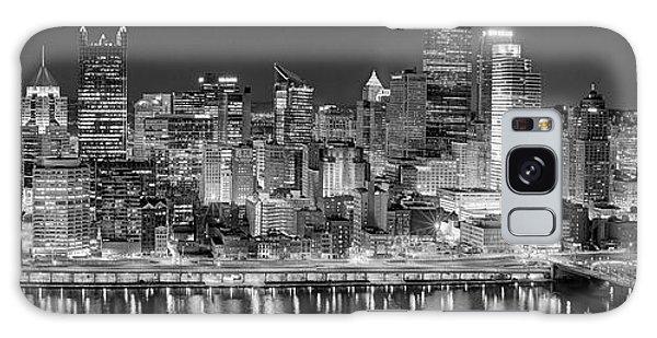 Pittsburgh Pennsylvania Skyline At Night Panorama Galaxy Case