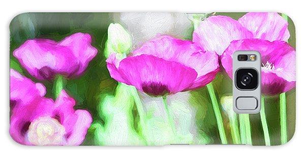 Poppies Galaxy Case by Bonnie Bruno