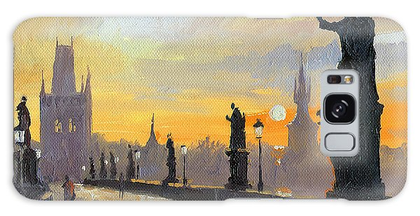 Cityscape Galaxy Case - Prague Charles Bridge 01 by Yuriy Shevchuk
