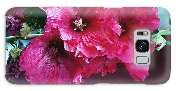 P's Hollyhocks Galaxy Case