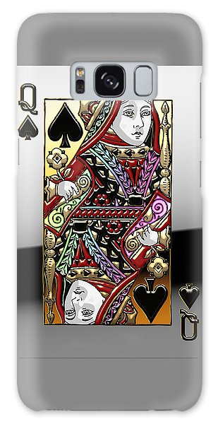 Pop Art Galaxy Case - Queen Of Spades  by Serge Averbukh