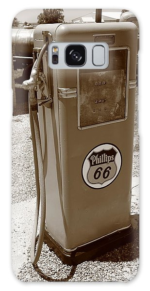 Route 66 Gas Pump Galaxy Case by Frank Romeo