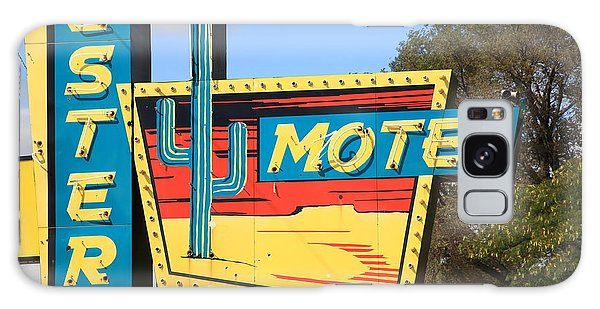 Route 66 - Western Motel Galaxy Case by Frank Romeo