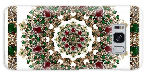 Ruby And Emerald Kaleidoscope Galaxy Case