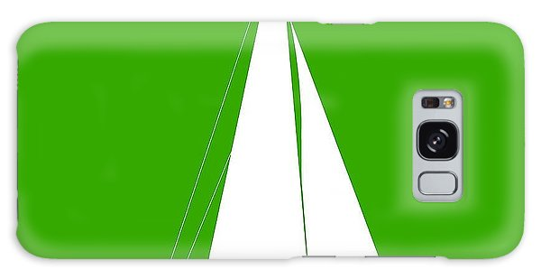 Sailboat In Green And White Galaxy Case