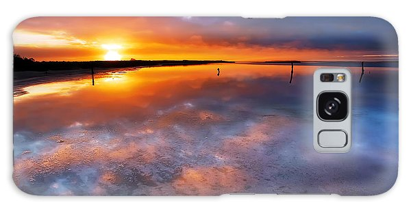 Salt Pan Sunrise Galaxy Case