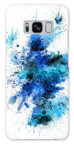 Splash Galaxy Case - Scotland Paint Splashes Map by Michael Tompsett