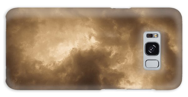 Sepia Clouds Galaxy Case