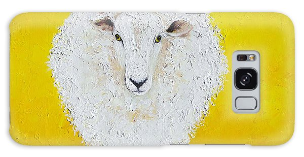 Sheep Painting On Yellow Background Galaxy Case