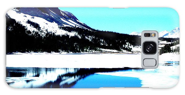 Shiny Snow Magic On Lake Galaxy Case
