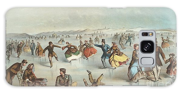 Central America Galaxy Case - Skating In Central Park, New York by Winslow Homer
