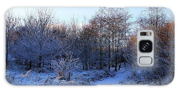 Snowy Cabin Wood Galaxy Case