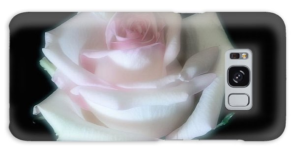 Soft Pink Rose Bud Galaxy Case by Jeannie Rhode