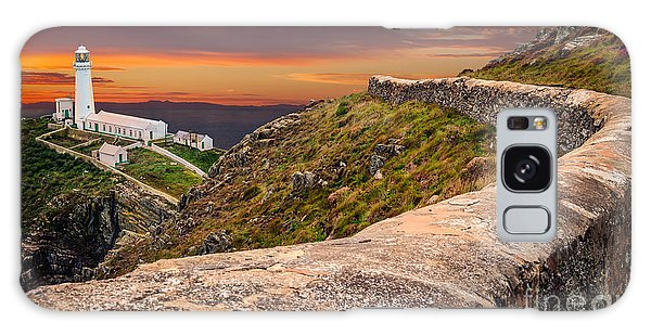 Sea Stacks Galaxy Case - South Stack Lighthouse by Adrian Evans