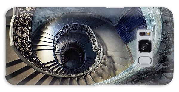 Spiral Staircase With Ornamented Handrail Galaxy Case by Jaroslaw Blaminsky