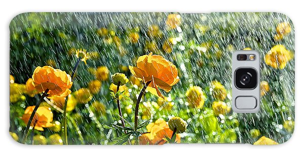 Spring Flowers In The Rain Galaxy Case