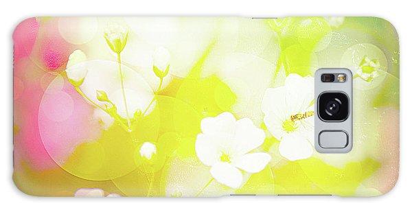 Summer Flowers, Baby's Breath, Digital Art Galaxy Case