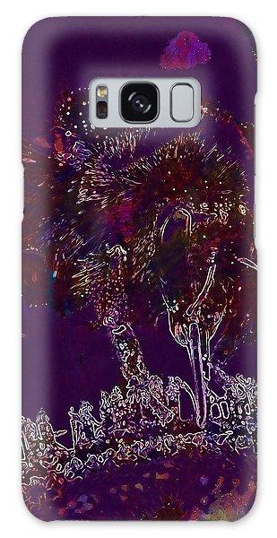 Galaxy Case featuring the digital art Sun Flower Hummel Insect Summer  by PixBreak Art