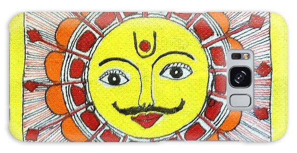 Madhubani Galaxy Case - Sun Madhubani by Meena Arunachalam