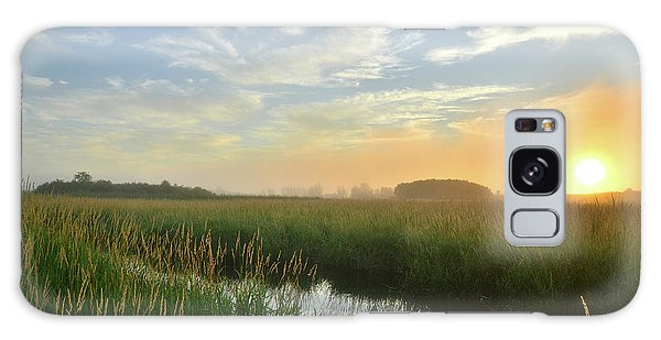 Sunrise At Glacial Park Galaxy Case