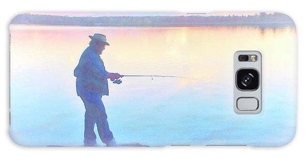 Sunrise Fisherman Galaxy Case