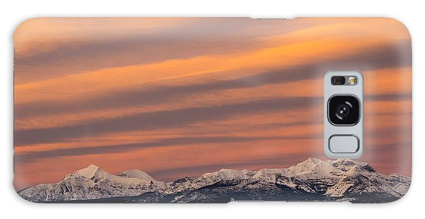 Sunset In Glacier National Park Galaxy Case