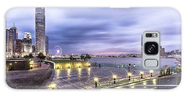 Sunset Over Hong Kong Galaxy Case
