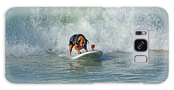 Surfing Dog Galaxy Case by Thanh Thuy Nguyen