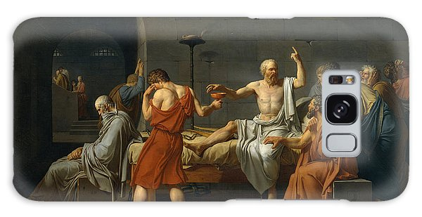 Philosopher Galaxy Case - The Death Of Socrates by Jacques Louis David