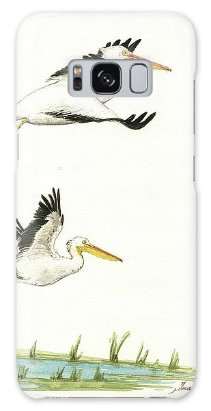 Bird Galaxy Case - The Fox And The Pelicans by Juan Bosco