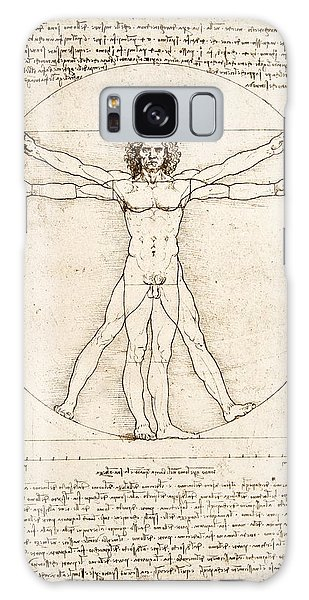 Shapes Galaxy Case - The Proportions Of The Human Figure by Leonardo Da Vinci