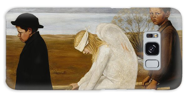 Mythological Galaxy Case - The Wounded Angel by Hugo Simberg