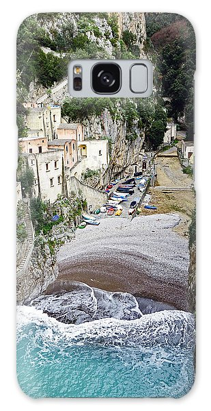 This Is A View Of Furore A Small Village Located On The Amalfi Coast In Italy  Galaxy Case