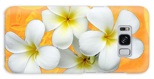 Tropical Frangrapani II Galaxy Case by Karen Lewis