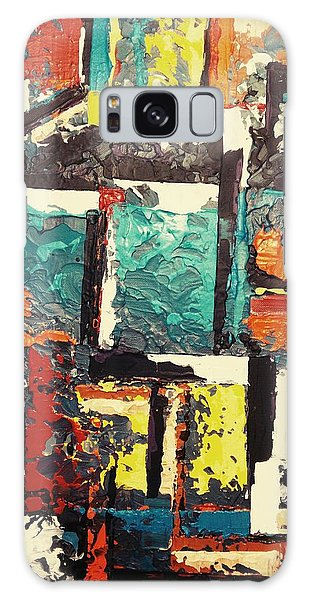 Galaxy Case featuring the painting Untitled by Ray Khalife