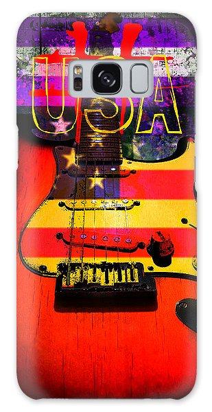 Red Usa Flag Guitar  Galaxy Case