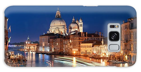 Galaxy Case featuring the photograph Venice Grand Canal Viewed At Night by Songquan Deng