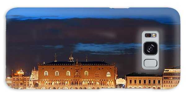 Galaxy Case featuring the photograph Venice Skyline At Night Panorama by Songquan Deng