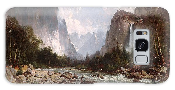 Strange Clouds Galaxy Case - View Of Yosemite Valley by Thomas Hill