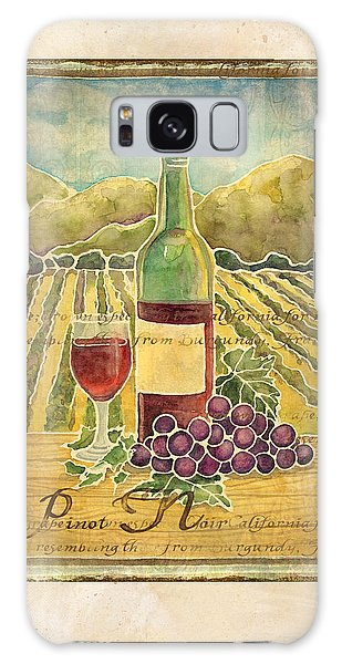 Vineyard Pinot Noir Grapes N Wine - Batik Style Galaxy Case by Audrey Jeanne Roberts