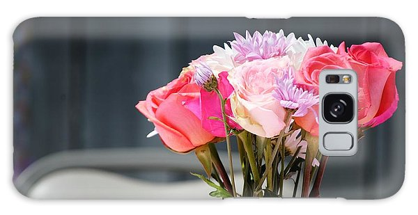 Vase Of Flowers Galaxy Case - Vintage Rose by Chastity Hoff