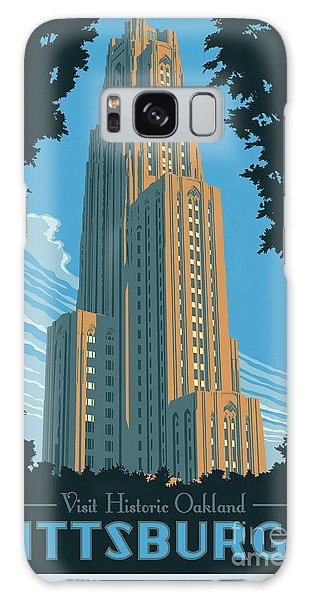 Vintage Style Pittsburgh Travel Poster Galaxy Case