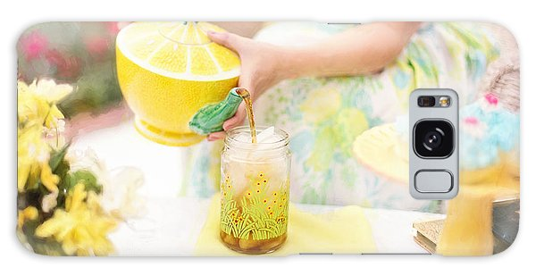 Vintage Val Iced Tea Time Galaxy Case