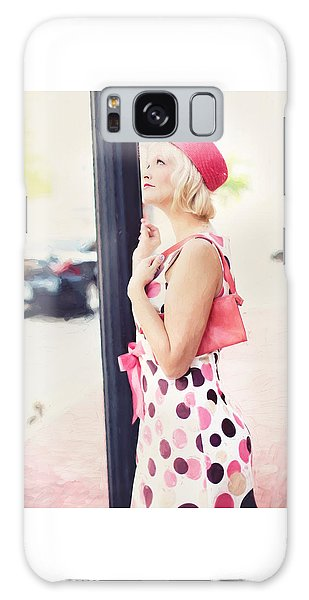 Vintage Val The Coral Hat Galaxy Case