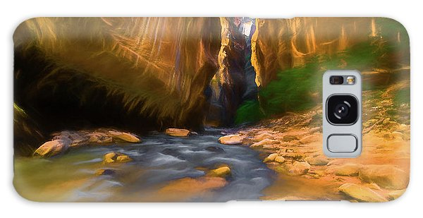 Virgin River - Zion National Park Watercolor Galaxy Case