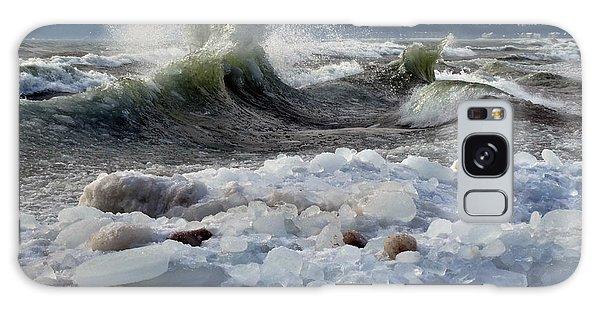Winter Waves At Whitefish Dunes Galaxy Case