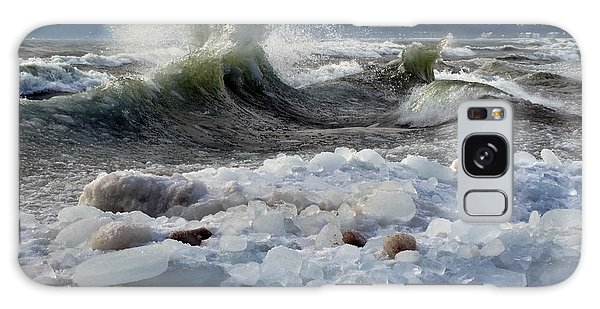 Winter Waves At Whitefish Dunes Galaxy Case